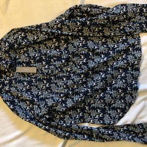 Jcrew navy dear popover shirt
